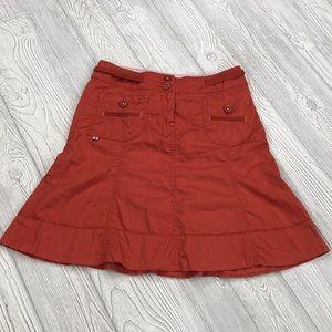 Anthropologie Sitwell Orange Skirt - sz 0